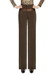 Women's Solid Black / Brown / Gray / Yellow Loose Pants , Vintage