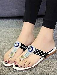Women's Summer Comfort Leatherette Casual Flat Heel Black / Silver / Gold