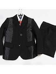 Ring-Träger Anzug-3-Schwarz-Polyester/Baumwollmischung
