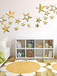 DIY Stars Stereo Mirror Wall Stickers, A Set Of 19