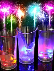 nouvelle couleur coloré, bar, roman verre / tasse / verre / 1pcs plastique thé boisson