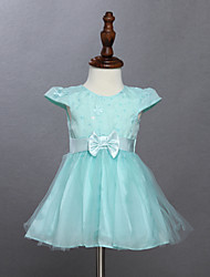 Girl's Blue Dress ,  Cotton Summer