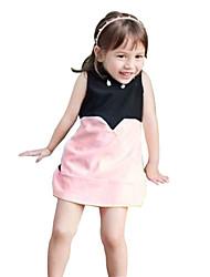 Girl's Black / White Dress , Dresswear Cotton Summer