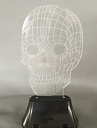 Visual 3D Skull Color-changing LED Decoration USB Table Lamp Colorful Gift Night Light