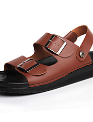 Men's Shoes Outdoor / Office & Career / Work & Duty / Athletic / Casual Nappa Leather Sandals Black / Brown / White
