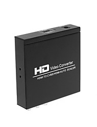HDMI to HDMI CVBS L/R Scaler Converter With Zoom Function Supporting HDCP HDMI 1.3 NTSC PAL TV Format For PS3 XBOX360