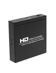 HDMI naar HDMI CVBS l / r scaler converter met zoom-functie ondersteunen HDCP hdmi 1.3 pal tv format voor ps3 xbox360