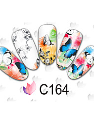 50sheets  Mixed Cartoon  Flower DIY Water Transfer Sticker Nail Art Beautiful STZ French50