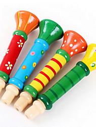 madeira colorido trompete brinquedos de alto-falante musicais brinquedos instrumentos musicais para crianças