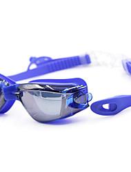 Swimming Goggles Unisex Anti-Fog / Waterproof Silica Gel PC Gray / Black / Blue / Dark Blue / TransparentBlue / Dark Blue / Purple / Red