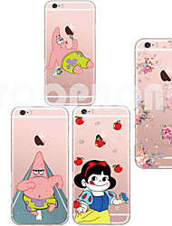 Para Capinha iPhone 6 Capinha iPhone 6 Plus Case Tampa Transparente Estampada Capa Traseira Capinha Desenho Macia TPU paraiPhone 6s Plus
