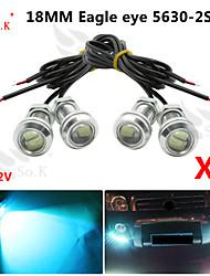 4 X ICE 12V 9W LED DRL Eagle Eye Light Car Auto Fog Daytime Reverse Signal