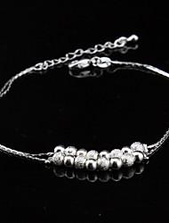 Bracelet - en Plaqué Argent - Mignon / Soirée / Travail / Décontracté - Lien / Chaîne / Perlé