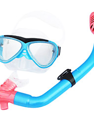Dry Diving Mask made in Silicone/Glass Material for Kid(MultiColor)