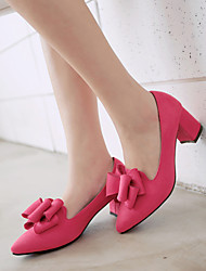 Women's Shoes Leatherette Chunky Heel Comfort / Pointed Toe Heels Wedding / Office & Career / Party & Evening / Dress
