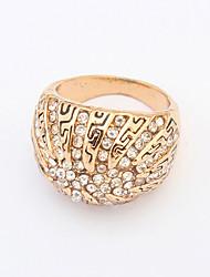 Anéis Pesta / Diário / Casual Jóias Liga Feminino Anéis Grossos 1pç,8 Dourado