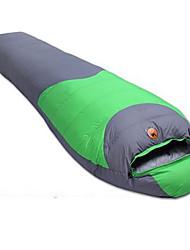 Schlafsack Mumienschlafsack Einzelbett(150 x 200 cm) -15℃ Enten Qualitätsdaune 1100g 215X75 Camping warm halten CAMEL
