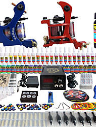 solong tattoo complete beginner tattoo kit pro 2 machines 40 inkten voeding naald grips tips tkb13