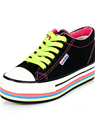 Women's Shoes Canvas Candy Colors Styles /Sneakers Outdoor / Casual Black / Dark Blue / Light Purple / White / Gray