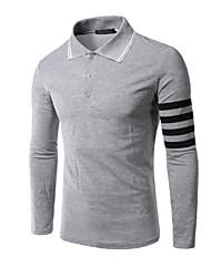 Men's Long Sleeve Polo,Polyester Casual / Sport Pure