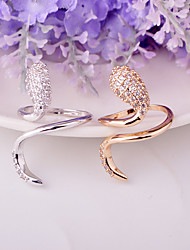 Ring Fashion Party Jewelry Brass Women Band Rings 1pc,One Size Gold