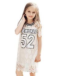 Vestito Girl Cotone Primavera Bianco