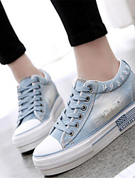 Women's Shoes Wedge Heel Round Toe Fashion Sneakers Casual Blue / Navy