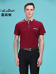 2016 NEW Fashion Men's Polo Shirt Plain T Shirt Pur Colour Short Sleeve Shirt Red/White/Blue/Grey