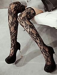 Women's Shoes Heel Heels / Platform Sandals / Heels Party & Evening / Dress / Casual Black / Red/530-1