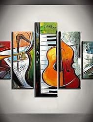handgemalte Gemälde-Sinfonieorchesters abstrakte Gemälde mit gestreckten Rahmen Satz von 5