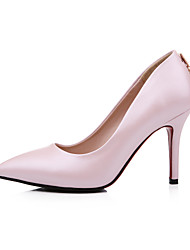 Women's Shoes Stiletto Heel Heels / Pointed Toe Heels Outdoor / Casual Pink / Red / White