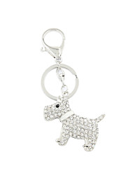 Fashion Cute Rhinestone Set Metal Dog Key Ring/Handbag Accessory