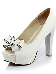Women's Shoes  Stiletto Heel Heels / Peep Toe / Platform Sandals Office & Career / Party & Evening / Dress Black / Red