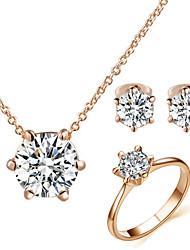 Niedlich / Party / Büro / Freizeit - Damen - Halskette / Ohrring / Ring ( Legierung / Zirkonia )