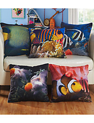 Baolisi Set of 5 Undersea World Decorative Pillow /Children of the World