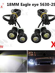 4x 9W olho de águia luz do carro nevoeiro drl dia inverter o sinal de estacionamento de backup 12v preto