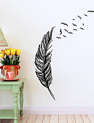 8014Y Flying Feather Wall Sticker Home Decor Adesivo De Parede Home Decoration Wallpaper Wall Sticker Living Room Decor