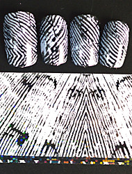 5pcs 20*4cm 2016 New Japanese White  Series Nail Art Stripe Image Design  Foils DIY Nail Sticker STZ Jw11