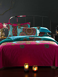 Ethnic Style Bedding Set Queen Size pure Cotton Fabric