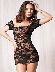 Damen Babydoll & slips Nachtwäsche einfarbig-Polyester / Chiffon / Spitze Lila Damen