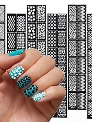 12PCS Different Styles The New Manicure Sticker Printing Template