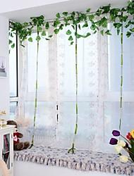 1PCS Roman Curtains Pink Bowknot Embroidery Sheer Shade Balcony Windows Curtain