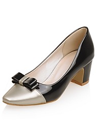 Women's Shoes Leatherette Chunky Heel Heels Heels Office & Career / Party & Evening / Casual Black / Pink / Red / White