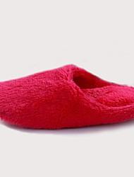 Women's Winter Fur Casual Flat Heel Blue Red