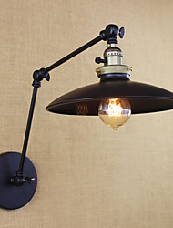 American Minimalist Industrial Iron Long Arm Wall Lamp With Switch