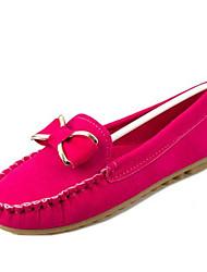 Women's Shoes Flat Heel Round Toe Flats Dress Black / Blue / Green / Fuchsia / Burgundy