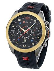 Мужской Наручные часы Кварцевый Защита от влаги Pезина Группа Черный марка