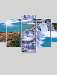 Modern Style Wall Painting Canvas Art Waterfall Landscape Pictures Home Decorative Paintings 3 Panel Wall Art No Framed