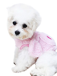 Dog Hoodie White Dog Clothes Winter Cartoon / Animal Fashion