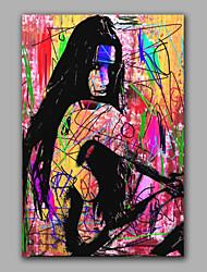 abstratos mulheres nuas sentou-se com colorido da pintura a óleo de design acrílico escova handmade boa qualidade